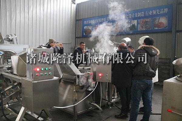 外国客户电磁炒锅实验蜂蜜花生图片